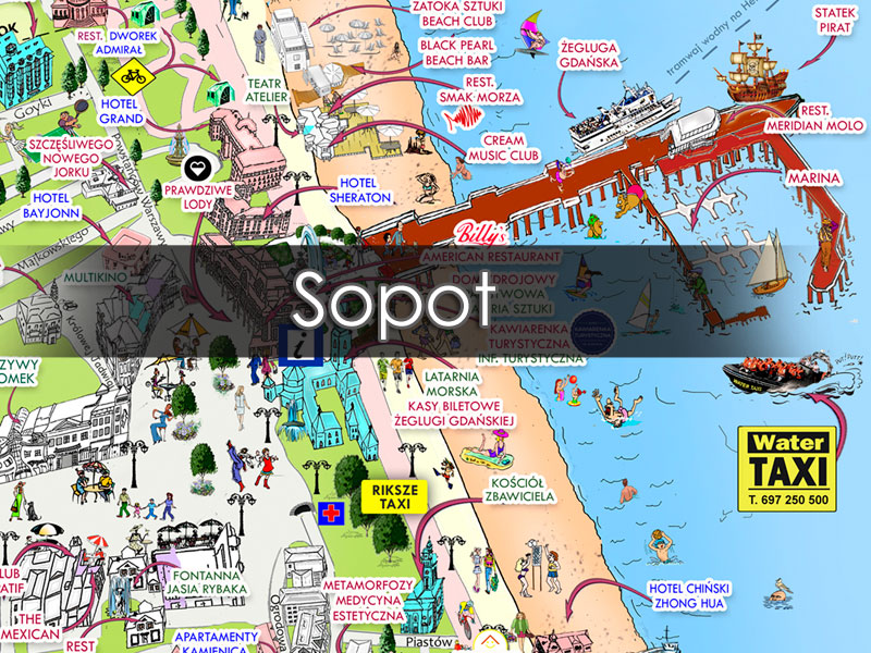 Map Of Sopot Visit Sopot Places To See In Sopot